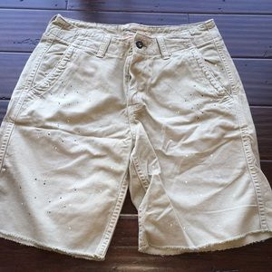 AEO cut off paint stained shorts size 30